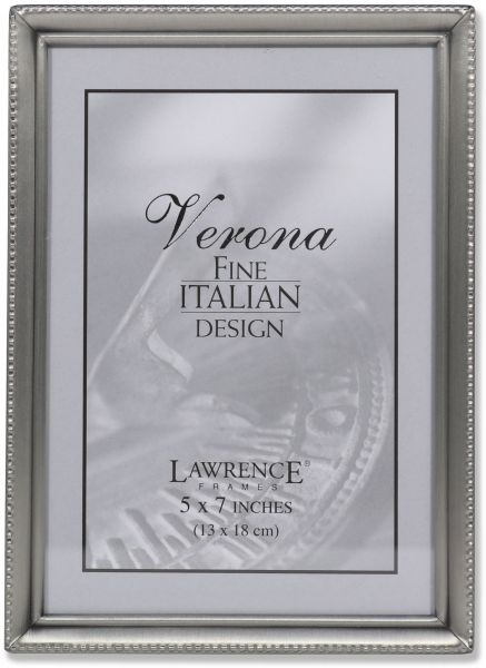 Souq | Lawrence Frames Antique Pewter 5x7 Picture Frame - Bead ...