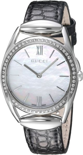 2a6ccefd89a Gucci Horsebit Quartz Stainless Steel and Leather Black Women s ...