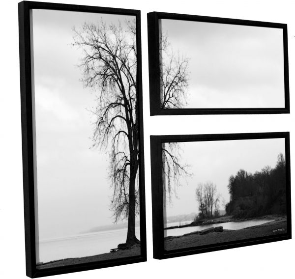 ArtWall Lora Mosier \'Im Right on The Edge\' 3 Piece Floater Framed ...