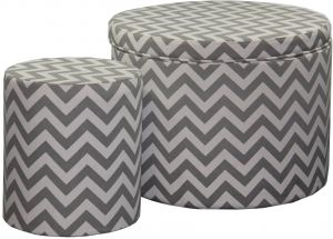 Cool Ore International Hb4593 Chevron Storage Ottoman With One Caraccident5 Cool Chair Designs And Ideas Caraccident5Info