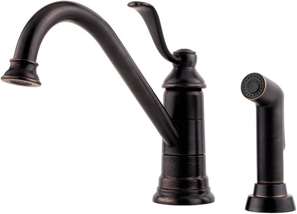 Souq Pfister Lg344py0 Portland 1 Handle Kitchen Faucet With Side
