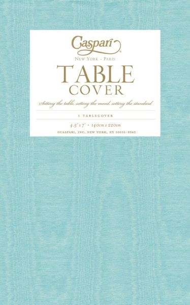 Caspari Moire Printed Paper Table Cover Blue 9728TCP