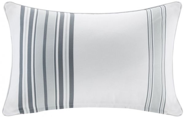 Madison Park Newport Printed Stripe 40M Scotchgard Outdoor Oblong Amazing Newport Decorative Two Pack Pillows