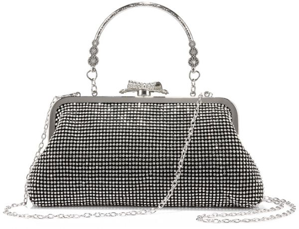 LOVEVOOK Women Evening Bag Clutch Handbags Purse for Wedding with  Rhinestones cc6b358201
