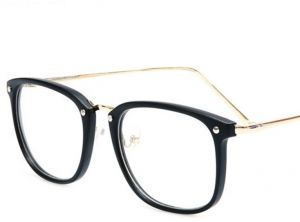 23998df8f909 Male And Female Models Art Style Face-Lift Flat Mirror Large-Frame Glasses
