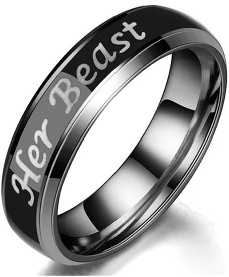S Mood Engagement Rings Her Beast Anium Steel Wedding Bands Set Anniversary Ring