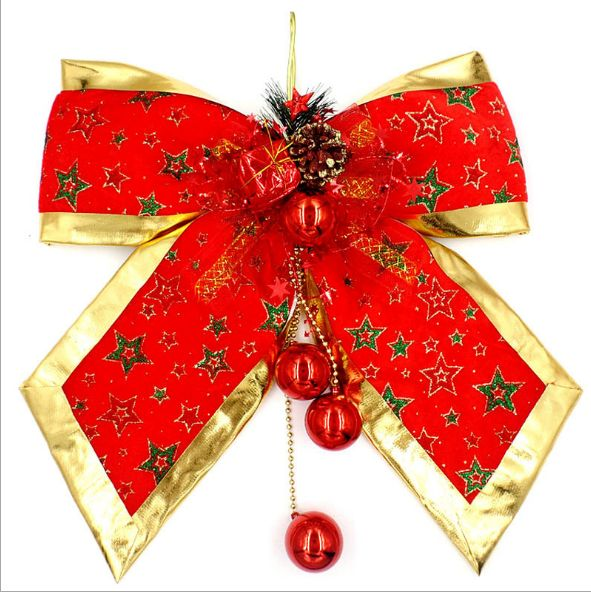 big red christmas star bow christmas decoration red five star christmas bow cloth big tie christmas mall decoration scene ornaments - How To Tie Decorative Bows For Christmas Decor