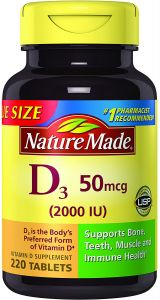 c96fb902b7a Nature Made Vitamin D3 2000 IU Tablets 220 Ct Value Size (Packaging may  vary)