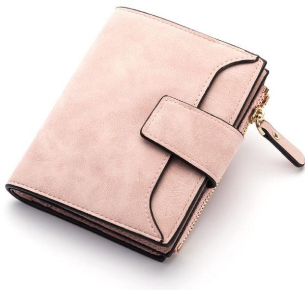 Leather Women Wallet Hasp Small And Slim Coin Pocket Purse Women