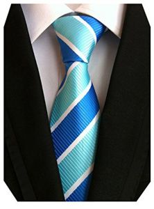 5526e70e8ee8 MENDENG Large Striped Yellow Black Red Blue Silk Men Tie Business Party  Necktie