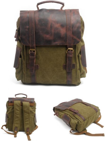123296d9d71b Retro Travel Bag Canvas Backpack Men s Casual Backpack Outdoor ...