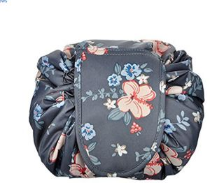 22df37dcd Portable Drawstring Cosmetic Bag Large Capacity Lazy Travel Makeup Pouch  Toiletry Bag for Womens Girls,Deep Gray