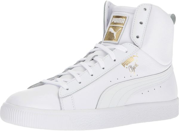 a12d61fa63d Puma Clyde Mid Core Foil Fashion Sneakers for Men - White