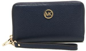 27591344d81a60 Michael Kors 35H5GFTE3L Fulton Large Flat Multifunction Phone Case Clutch  Wristlet Wallet - Navy