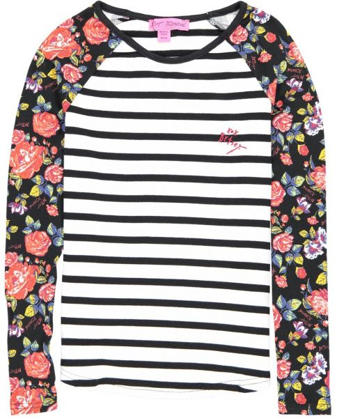 3e92c46df4 Betsey Johnson Big Girls Stripe Floral Top