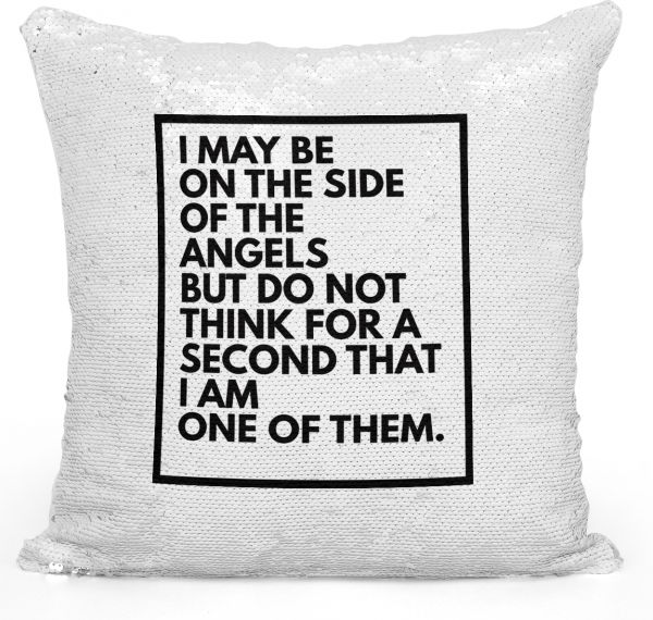 Sequin Throw Pillow Sherlock Holmes Quote Tv Show Pillow Printed