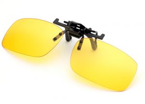 0699b064a6e Yellow Polarized Clip-on Flip up Sunglasses Lenses Glasses Unbreakable  Driving Fishing Outdoor Sport