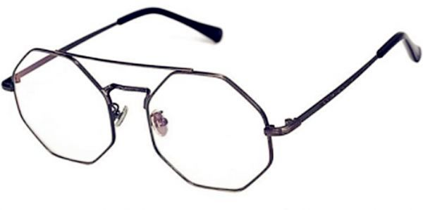 c665ff23d8f Personality student style Octagonal eye frame Retro flat glass ...