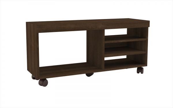 Bon BRV Moveis TV Table With Four Shelves And Wheels, Brown   53.5 H X 29.5 W X  90 L Cm