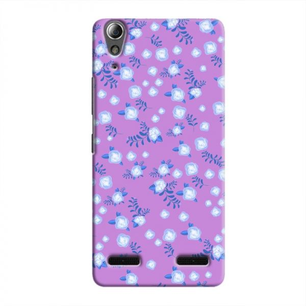 Cover It Up Blue Flower Paper Pink Lenovo A6000 Hard Case
