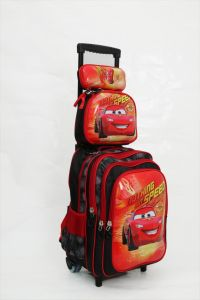 a01081c0d61 Cars Lightning McQueen school backpack trolley Bag 14 inch with Pencil Case    Lunch Bag 3 Pcs Set