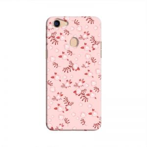 Cover It Up - Pink Flower Light Pink Paper Oppo F5 Hard Case