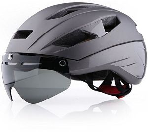 Base Camp Moon Road Bike Helmets With Removable Eye Shield Visor For Adult Cycling Gray Buy Online Protective Gear At Best Prices In Egypt Souq Com