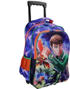 a4c1f704f86 School backpack Trolley Ben10 With Lunch Box Bag And Pencil Pouch Set 18  Inch