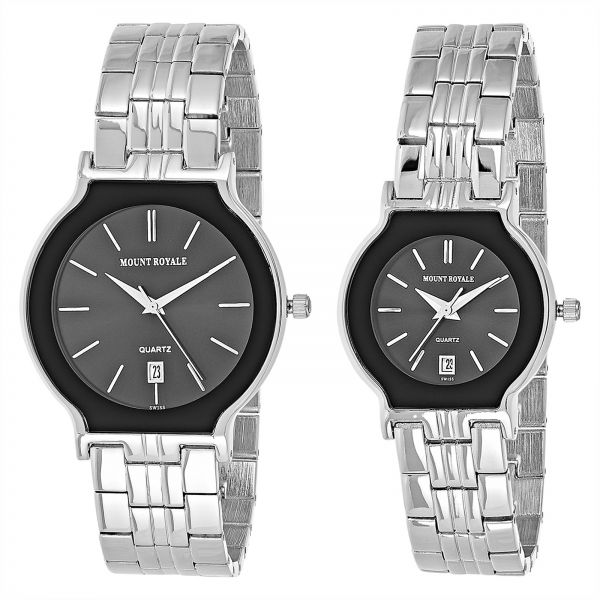 Swiss Army - Jam Tangan Couple - Stainless Steel - SA 1240 Black GOLD. Source