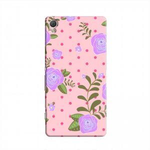 Cover It Up - Rose Large Flower Pink Spots Sony Xperia Z2 Hard Case