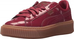 factory authentic 7d326 3100a Puma Basket Platform Patent Fashion Sneakers for Women - Red