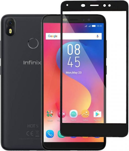 Infinix Hot S3 Full Tempered Glass Screen Protector - Black