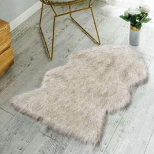 Faux Fur Sheepskin Rug-Deluxe Soft Faux