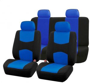 Marvelous Universal Blue Black Car Seat Covers Full Set Sporty Washable Airbag Compatible Pdpeps Interior Chair Design Pdpepsorg