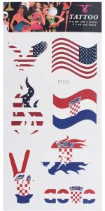 92ebeeed0 Russia 2018 World Cup National Flag Tattoo Sticker Temporary Tattoo Body  Face Sticker Flags - Croatia & USA