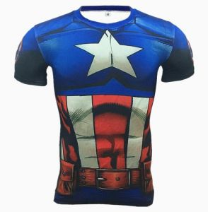 cf44ab439 Marvel T-Shirt Superman 3D Printed Tee Gym Fitness High Elastic Muscle Tops