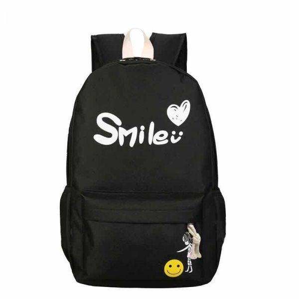 f994bd10273e Fashion Smile Women Lady Leisure Backpack School Bags For Girl black ...