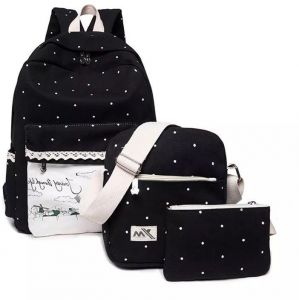 Fashion School bags set 3 pieces canvas backpack for kids and girls study  school backpack bb4c76f6a5