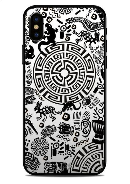 Versace White Bomb Sticker Skin For Apple Iphone X Covers Back And Sides