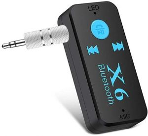 Bluetooth Adapter Audio Receiver for Car Kit Home Hi-fi System Wireless 3.5mm Aux Stereo Music Streaming with Cell Phone Hands Free Calling Microphone