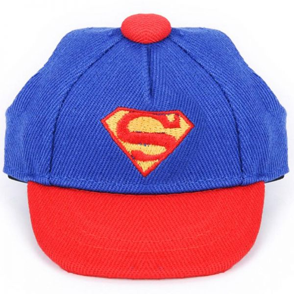 1pcs Summer Outdoor Pet Dog Hat superman hat Cute Accessories For Small Dogs Print Baseball Dog Cap