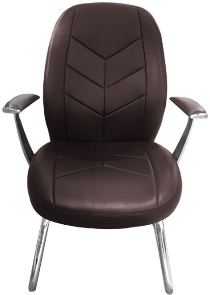 Neo Front concise dark brown color aluminiun PU leather office guest visitor chair soft furniture  sc 1 st  Souq.com & Neo Front concise dark brown color aluminiun PU leather office guest ...