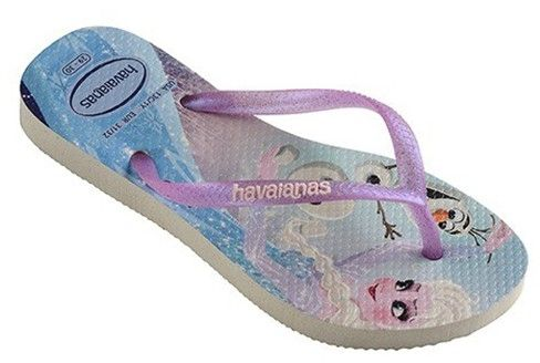 84c8de9225545 Havaianas Little Girls Slim Frozen Flip flops