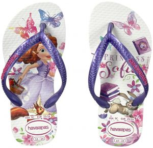 eda771e879bcf Havaianas Kids Girls Slim Princess Sofia Flipflops