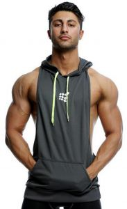 63ff5fe495fce Mens Gym Stringer Tank Top Bodybuilding Athletic Workout Muscle Fitness  Vest Gray L