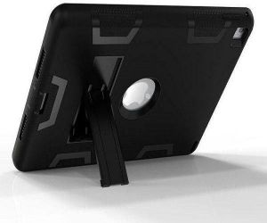 Perfect For Apple iPad Mini 4 7.9 Inch Black color Shockproof Kickstand Three Layer Armor Defender Case Cover