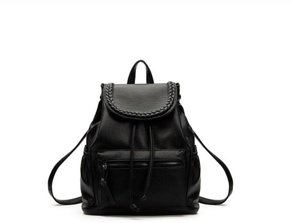 e91d9548774 Fashion trend women soft leather shoulders bag College Wind leisure travel  backpack