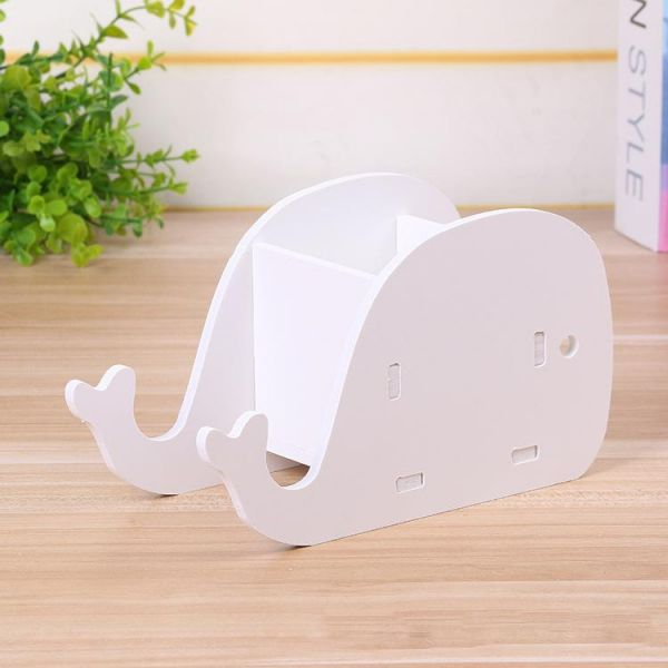 Joulli Pure White Elephant Diy Cell Phone Stand Holder Desk