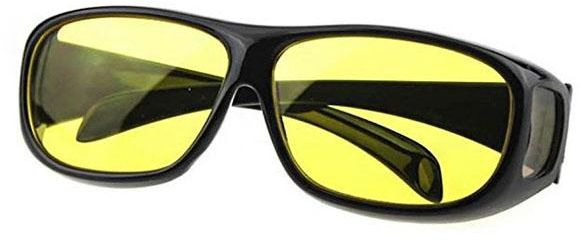 0c072b9084d Unisex HD Night Vision Driving Sunglasses Yellow Lens Over Wrap Around  Glasses. by Other