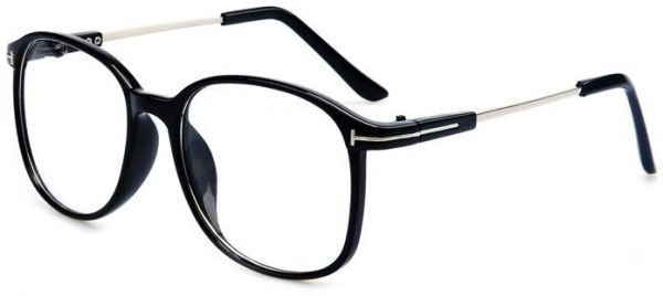 8b3b50552d3 Casual Fashion Horned Rim Rectangular Frame Clear Lens Eye glasses. by  Other